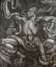 Ernst Fuchs (1930-): Anti-Laokoon (1965)