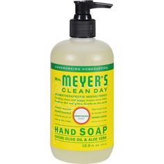 Meyer's Liquid Hand Soap - Honeysuckle - Case of 6 - ozMrs. Meyer's Clean Day Hand Soap in Honeysuckle Scent contains aloe vera gel, olive oil and a u Ylang Ylang Flower, Jasmine Oil, Liquid Hand Soap, Olive Fruit, Cleaning Day, Flower Oil, Natural Essential Oils, Aloe Vera Gel, At Least