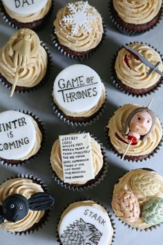 BABY SHOWER~Game of Thrones cupcakes