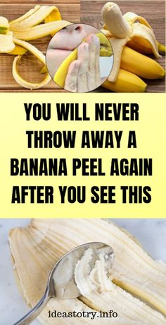Healthy Discuss: You Will Never Throw Away a Banana Peel Again After You See This ! Cold Home Remedies, Natural Health Remedies, Herbal Remedies, Headache Remedies, Everything Is Awesome, Healthy Fruits, Healthy Tips, Healthy Recipes, Healthy Food