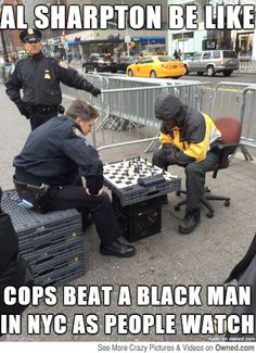 Al sharpton be like cops beat a black man in nyc as people watch