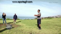 2014 NFL Draft Running Back prospect Bishop Sankey catches a ball while doing a backflip