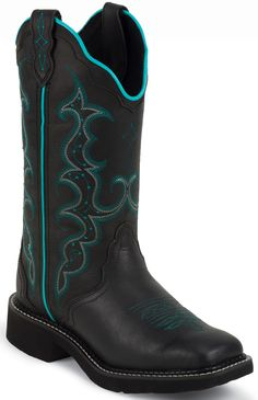 L2902 Women's Gypsy Western Justin Boots - Black Justin Boots, Black Boots, Cowboy Boots, Gypsy, Shoes, Fashion, Moda, Zapatos, Shoes Outlet