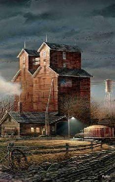 Old Time Grain Barns