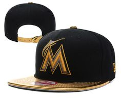 MLB MIAMI MARLINS 9FIFTY Strapback Caps Hats Black 002! Only  8.90USD Hats  Online 25df736bb416