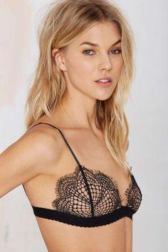 delicate lace bralette