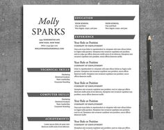 Resume Template The Sparks Resume Template Word by itsprintable