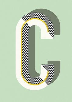 Elegant, Geometric Typography Posters From A-Z - DesignTAXI.com
