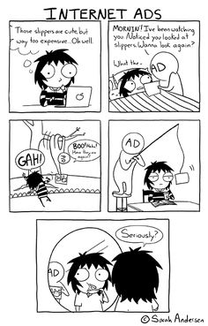 internet,ads,sarahseeandersen,comics,funny comics & strips, cartoons