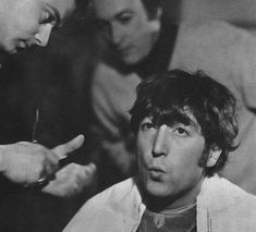 John getting his hair cut