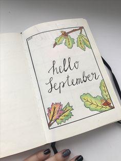 Bullet journal ideas September monthly ежедневник оформление обложка сентябрь