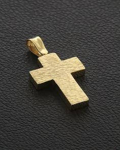 Σταυρός δυο όψεων Χρυσός Κ14