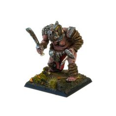 Set contains 1 resin Ogre Mercenary: Bestiarius Calvus with scenic base 40 x 40 mm ideal for use with 28mm scale model. It's multi-part miniature. This set does not include head with helmet (visible on painted miniature). Supplied unpainted. This kit requires