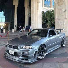 Thoughts on this beauty?❤️🤤 ➡️To Get noticed use:  R34 Gtr, Nissan Skyline Gt, Nissan Gtr Skyline, Gtr Car, Jdm Wallpaper, Nissan R35, Because Race Car, Jdm Cars, Bugatti Veyron