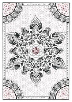 A4 Print Seed to Flower' unframed // Sacred by ArtOfZig