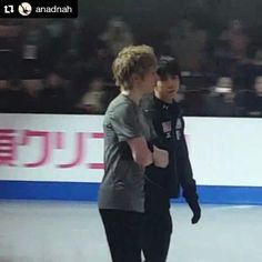#Repost @anadnah with @repostapp ・・・ #yuzuruhanyu #2016SkateCanada Like whoever makes him LOL( ˘͈ ᵕ ˘͈ )Nice chat with Kevin. It has been a long time seeing u two together  妖精みたいな二人も、こうして見ると普通の好青年✨ ケヴィンの復活にワクワク