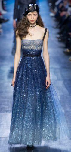 Dior Outono Inverno 2017/18 Paris Fashion Week - Estilo Romântico - Bordados - Princesa