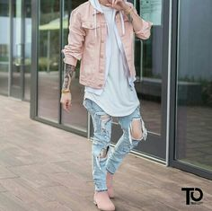Salmon Denim Jacket
