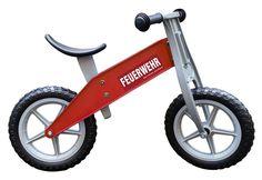 Redtoys, hochwertiges Kindergarten-Laufrad, im Feuerwer Design rot, leicht,