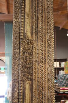 Architectural Carved Beam, Vintage Wood Panel, Architectural Wood Panel, Wood Carved Panel, Indian D Kallax, Main Door Design, House On The Rock, Moroccan Design, Unique Doors, Decorative Panels, Woodworking Workshop, Cuisines Design, Design Moderne