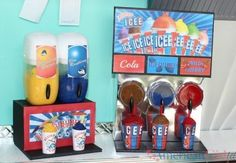 How to Make an American Girl Doll Slushie Machine - American Girl Dolls Comida American Girl, American Girl Food, American Girl House, My American Girl Doll, American Girl Crafts, American Girl Clothes, Ag Dolls, Girl Dolls, Accessoires Lps