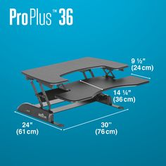 Our best-selling, height-adjustable solution turns any desk into a standing desk, takes you from sitting to standing in just 3 seconds, requires no assembly, and works with your existing furniture. Dual Monitor Setup, Sit To Stand, Lower Deck, Up For The Challenge, Adjustable Height Desk, Commercial Furniture, Library Ideas, Black, Black People