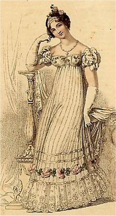 Princess Charlotte's wedding dress 1816 This is a costume gown / dress / outfit from the Regency (Jane Austen) era.