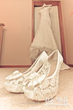 Lace is always a trend for brides. #Wedding #Shoes