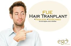 FUE #hairtransplant . Do not require cuts or stitches. For more detail visit: www.goego.in