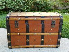 1870's Leather Covered Toy Trunk