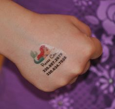 Child Safety I.D. Personalized Temporary Tattoo
