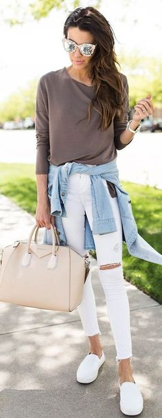 Pinterest/EmmCornett . . . . . spring #fashion #stylish #outfitideas | Spring neutrals weekend style outfit | Hello Fashion