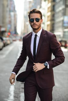 Suit by JCREW Shirt by Uniqlo Tie by Topman Shoes by Hugo Boss Watch by Vector Sunglasses by Dior