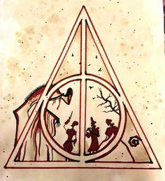 Best Drawing Ideas Harry Potter Deathly Hallows Ideas - My list of best tattoo models Arte Do Harry Potter, Harry Potter Painting, Harry Potter Drawings, Harry Potter Deathly Hallows, Harry Potter Books, Harry Potter Memes, Harry Potter World, Deathly Hallows Tattoo, Harry Tattoos