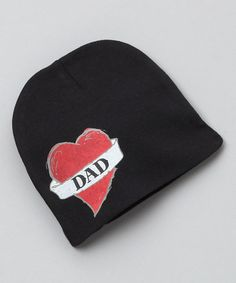 Take a look at this Black & Red 'Dad' Beanie by pinkaxle on #zulily today!