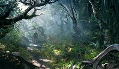 View an image titled 'North Carolina Jungle Art' in our Assassin's Creed IV: Black Flag art gallery featuring official character designs, concept art, and promo pictures. Concept Art World, Environment Concept Art, Environment Design, Assassin's Creed Black, Assassins Creed 4, All Assassin's Creed, Jungle Art, Flag Art, Fantasy Places
