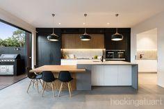Modern Kitchen Interiors, Luxury Kitchen Design, Kitchen Room Design, Contemporary Kitchen Design, Kitchen Cabinet Design, Kitchen Layout, Home Decor Kitchen, Interior Design Kitchen, Kitchen Living