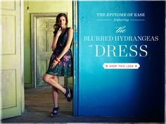 love that dress and love that blue wall!!