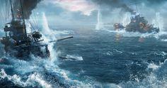 world of warships battle 4k ultra hd wallpaper