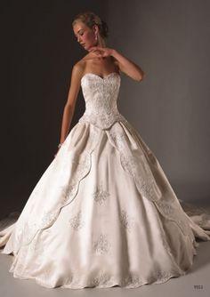 Wedding dress:  Ball gown
