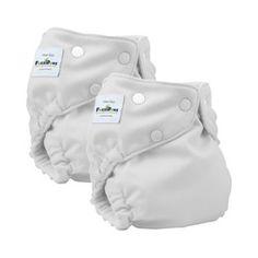 Fuzzibunz one size diaper white 2pk