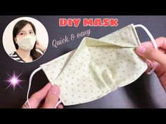 Easy Face Masks, Homemade Face Masks, Diy Face Mask, Sewing Hacks, Sewing Tutorials, Sewing Crafts, Sewing Projects, Sewing Diy, 3d Face