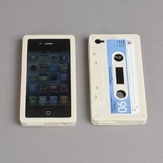 Cassette tape iphone cover  WANT!!!