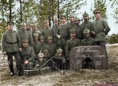 World War ColorisationPublié par Benoit VienneJ'aime cette Page · 1 h · Modifié · Lithuania 1916 - Landsturmmänner from Landsturm Infanterie Bataillon 'Leipzig' (XIX. being instructed in the use of the in a forest camp. Ww1 History, Military History, World History, Military Photos, World War One, Second World, First World, Marie Curie, Ww1 Photos