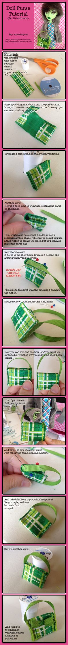 Doll Purse Tutorial! by ~robokittycat on deviantART