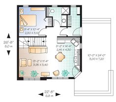 Country House Plan 76168 Level One