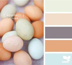 Lovely eggshell color scheme