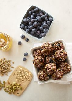 Packed with pumpkin, sunflower and sesame seeds, these homemade snack bites will keep you full between meals.