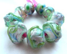 Flirt++handmade+lampwork+bead+set+by+FlamingEck+on+Etsy,+£13.00