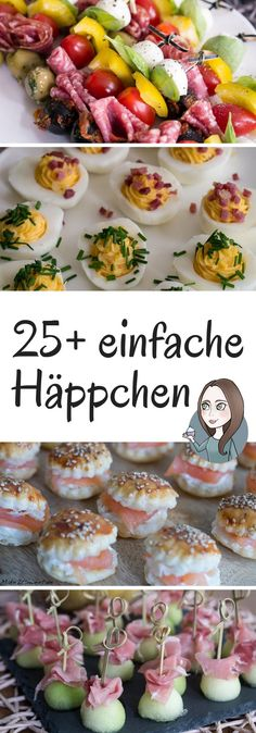 Snacks and finger food - Häppchen und Fingerfood – MakeItSweet.de Simple recipes for appetizers and finger food. Ideal for the next party, buffet or when visitors come. Party Finger Foods, Snacks Für Party, Appetizers For Party, Appetizer Recipes, Simple Appetizers, Party Buffet, Brunch Buffet, Clean Eating Snacks, Healthy Snacks